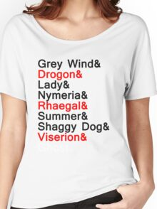 The Direwolves and The Dragons Women's Relaxed Fit T-Shirt
