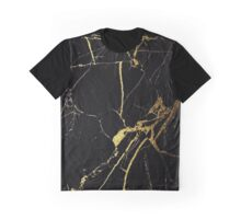 Black and Gold Marble  Graphic T-Shirt