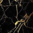 Black and Gold Marble  by mermaidnatalie