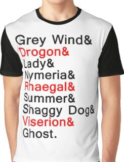 The Direwolves and The Dragons Graphic T-Shirt