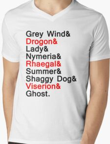 The Direwolves and The Dragons Mens V-Neck T-Shirt