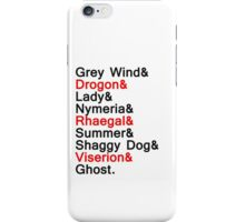 The Direwolves and The Dragons iPhone Case/Skin