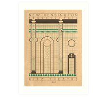 Ritz Theatre - 1922 (Green) Art Print
