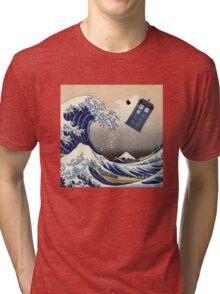 TARDIS at Kanagawa Tri-blend T-Shirt