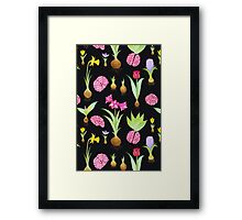 Spring Bulbs and Brains  Framed Print