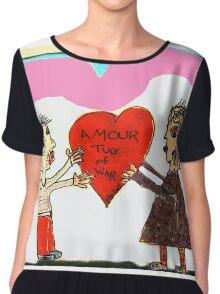 Amour Tug Of War Valentine Chiffon Top