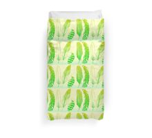 Lime Feathers Duvet Cover