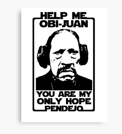 Help me Obi-Juan, you are my only hope pendejo Canvas Print