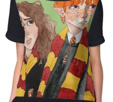 Magical Students from Hogwarts Chiffon Top