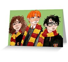 Magical Students from Hogwarts Greeting Card
