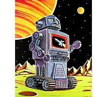 PURPLE ROBOT Photographic Print