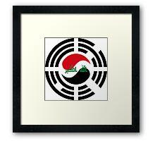 Korean Iraqi Multinational Patriot Flag Series Framed Print