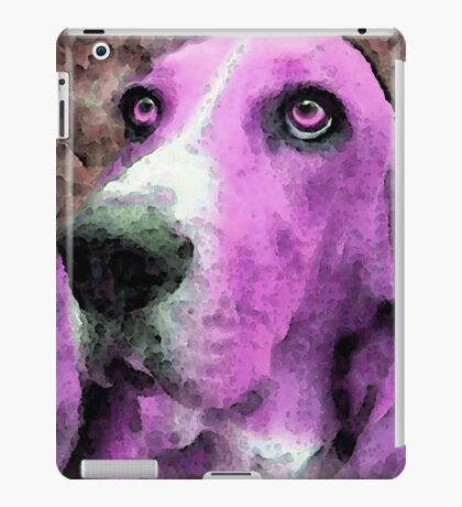Basset Hound - Pop Art Pink iPad Case/Skin