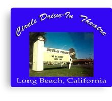 Circle Drive-In Theater Canvas Print