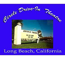 Circle Drive-In Theater Photographic Print