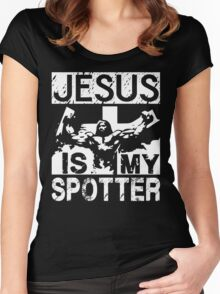 Jesus Is My Spotter Women's Fitted Scoop T-Shirt