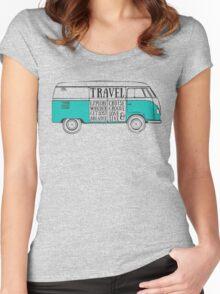 TRAVEL VAN Women's Fitted Scoop T-Shirt