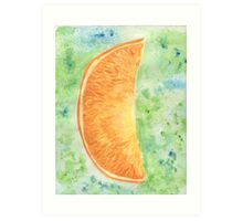 Orange slice Art Print