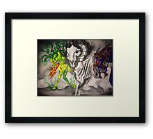 The Horsemen (graffiti inspired) Framed Print