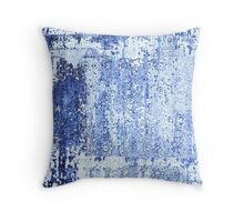 Distressed Blue Jeans Throw Pillow