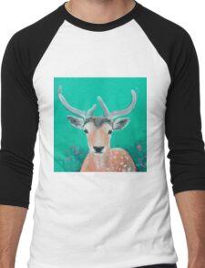 Reindeer for Christmas Men's Baseball ¾ T-Shirt