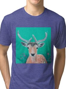 Reindeer for Christmas Tri-blend T-Shirt