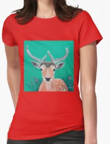 Reindeer for Christmas Womens Fitted T-Shirt