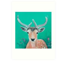 Reindeer for Christmas Art Print