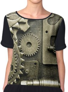 Steampunk Design Chiffon Top