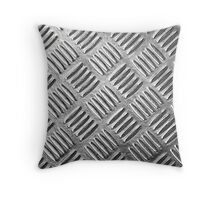 "Metallic, Metal, Steel Plate ""Simulated""  Throw Pillow"