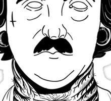 "Edgar Allan ""Hardcore"" Poe Sticker"