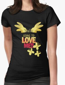 Quotes and quips - LOVE ME!! Womens Fitted T-Shirt