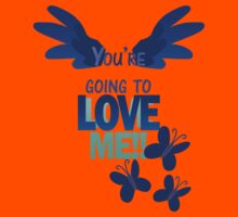 Quotes and quips - LOVE ME!! - inverted Kids Tee