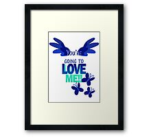 Quotes and quips - LOVE ME!! - inverted Framed Print