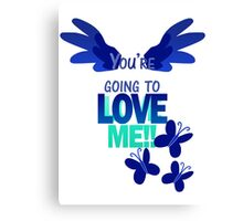 Quotes and quips - LOVE ME!! - inverted Canvas Print