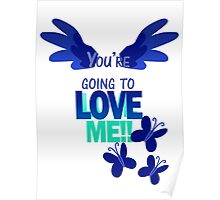 Quotes and quips - LOVE ME!! - inverted Poster