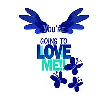 Quotes and quips - LOVE ME!! - inverted Photographic Print