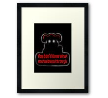 FNAF Sister Location Baby You don't know what we've been through Framed Print