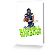The Relentless Russell Wilson Greeting Card