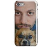 Man and his dog. iPhone Case/Skin