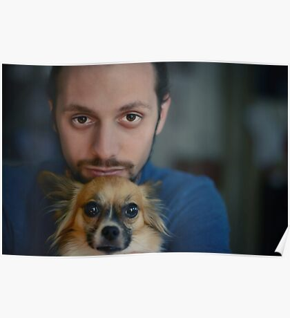 Man and his dog. Poster