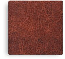 Faux Animal Skin, Leather Brown Canvas Print