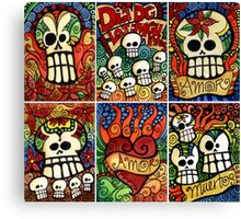 Day of the Dead Sugar Skulls Canvas Print