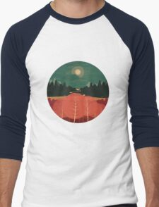 Midday Mountains Men's Baseball ¾ T-Shirt