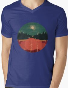 Midday Mountains Mens V-Neck T-Shirt