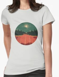 Midday Mountains Womens Fitted T-Shirt