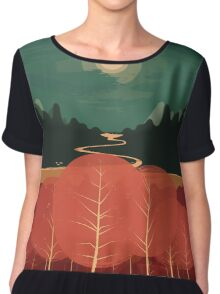 Midday Mountains Chiffon Top