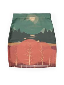 Midday Mountains Mini Skirt