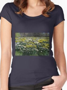 Altered Daffodils Women's Fitted Scoop T-Shirt