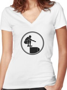 Mens Crossfit Women's Fitted V-Neck T-Shirt